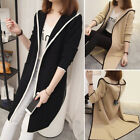 Fashion Women's  Hooded Coat Ladies Long Sleeve Baggy Cape Casual Cardigan Top