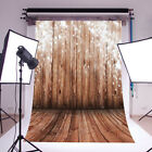 5x7FT/10x10FT Wooden Wall Photo Backdrops Vinyl Family Studio Background Prop US