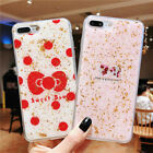 Bling Cover For Phone Xs Max X XR 8 7 6 Glitter Gold Foil Epoxy Marble Back Case