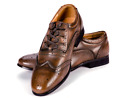 MENS LEATHER GHILLIE BROGUES BROWN NORWOOD COLLECTION J WOOD HYBRID BROGUES