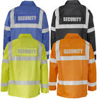 SECURITY WATERPRJACKET PATROL HI VIZ SIA INDUSTRY COAT HANDLER POLICE
