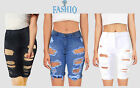 Women's Cotton Denim Shorts Distressed Ripped Summer Jeans Casual Holes Pants