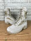 """Womens Danner TFX Rough Out Hot 8"""" Tan Boots Millitary Sz 7.5"""