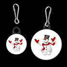 SINGING SNOWMAN 32007 button earrings necklace ponytail Christmas dancing