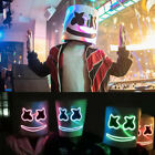 LED MarshMello DJ Mask Music Props Full Head Helmet Bar Halloween Cosplay Mask
