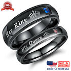 His Queen or Her King Couple's Matching Promise Ring Comfort Fit Wedding Band image