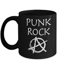 Punk Rock Mug - Black Coffee Cup - Funny Gift for Anarchist, Musician, Star,