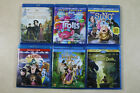 Lot of Six Dinsey Dvd / Blue Ray Movies Trolls  Sing  Tangled Hotel Transylvania