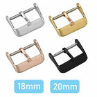 Stainless Steel Watch Needle Buckle Parts Watch Band Strap Clasp Link 18mm 20mm image