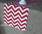 Red Table Runner Chevron Table Centerpiece Dining Room Kitchen Decor Red Linens