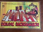 Vintage Pleasantime Games Deluxe Backgammon & Checker Board Game