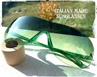 Sunglasses Mask Big Oval Green Motorcycle Bike Made in Italy Vintage