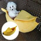 Pet Dog Cat Bed House  Litter Kennel Doggy Puppy Warm Banana Basket Pad New