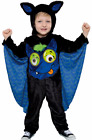 NEW Baby Boys Girls Faux Fur Wobbly Eye BAT Halloween Fancy Dress Costume Outfit