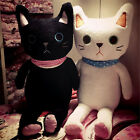 Lovely Stuffed Cat Plush Animal Toys Soft Cuddly Black and White Cats Doll Gifts