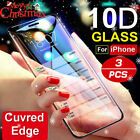 For IPhone X XS MAX XR 8 7 6 10D Full Cover Real Tempered Glass Screen Protec/TE