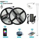 2 Packed 16.4FT 5050 LED Light Strip With 150 Beads Wireless IR Controller IOS
