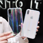 For Phone XS Max Defender Clear TPU Phone Case Cover+Tempered Glass Fashion-NEW