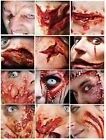 3D Realistic Special FX Gore Wound Halloween Glue/Latex Free Prosthetic Transfer