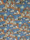 """CHRISTMAS """" Good Will To All """" Nativity Scene Susan Winget Cotton Fabric 1Y NEW"""