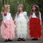 Kids Girls Sequin Tutu Backless Wedding Princess Party Fancy Bridesmaid Dresses