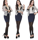 Women Seamless Stretch Tight Sexy Bodycon Mini Skirt Short Pencil Dress S-XXXL