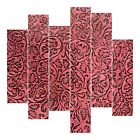 Leather Sheets, Embossed Leather Cowboy Tool Pink, Custom Cuts for Crafters DIY
