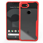 For Google Pixel 3a 3 XL Super Bumper Transparent Hard PC Soft Rubber Case Cover