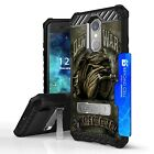 Military Grade Hybrid Shockproof Case w/Stand Cover for LG Aristo 3 Phoenix 4