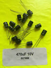 2/5/10/25/50 PC 470uF 10V 105C Radial Electrolytic Capacitor 6.3x7mm USA