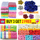 30/50/144pcs Artificial Flowers Mini Foam Roses With Stem Wedding Bouquet Decor
