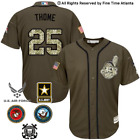 NEW Jim Thome Cleveland Indians Salute to Service Military Camo Jersey