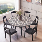 Decor Fitted Elastic Table Cover Tablecloths with Soft Waterproof Backing
