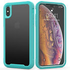 For iPhone XS Max Luxury Shockproof Clear Hybrid TPU Silicone Frame Case Cover