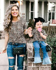 Kyпить Summer Family T-shirt Mother and Daughter Matching Short Sleeve Leopard  Shirt на еВаy.соm