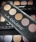 PACK OF 3 L.A. COLORS 5 EYESHADOWS PALETTE DESERT DUNE & UNFORGETTABLE & TEATIME