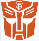 SAN FRANCISCO GIANTS TRANSFORMERS LOGO VINYL DECALS AUTOBOT AND DECEPTICON on Ebay
