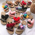 SPRING SUMMER Fashion Bohemia Multi Color Sandals Rainbow colorful Slides Shoes