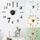 Wall Clock Watch Large Modern DIY Sticker Decal Simple 3D Roman Numeral Home Kit