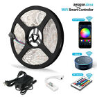 16.4FT 5050 LED Light Strip With 300 Beads Wireless IR Controller Android IOS