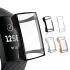 Soft Slim TPU Screen Protector Protective Watch Case Cover for Fitbit Charge 3