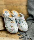 Womens Hand Made Clogs Ladies Wooden Sole 100% Natural Leather Upper Size 2.5- 8