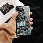 Chinese Style Dragon Phone Case for phone XS MAX Fashion Glass back Silicone-NEW