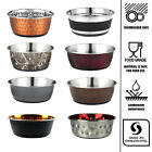 Dog Bowl Stainless Steel Small Medium Large Puppy Animal Feeding Food Water Dish
