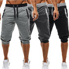 Men's Pants Gym Summer Sweat Fashion Trousers Jogging Stylish Fitness Patchwork