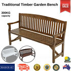 3 Seater Wooden Garden Bench Patio Deck Chair Timber Seat Outdoor Furniture
