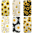 Fashion Daisy Sunflower Soft Clear Phone Case For iPhone 5 6s 7 8 Plus X Xs Max