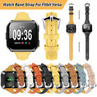 For Fitbit Versa Genuine Leather Wristband Watch Band Strap Bracelet Replacement image