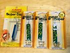 4 NOS USA MADE LUHR JENSEN SUPER DUPER 509 3/8 OZ FROG & BLU SPOON FISHING LURES