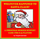 HOST A CHRISTMAS MURDER MYSTERY DINNER PARTY GAME  for 8-15 players